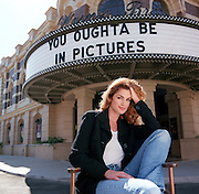 """Supermodel Cindy Crawford, photographed on the backlot at Warner Bros in Burbank. She """"oughta be in pictures"""" and in fact she isÑ she has made her movie debut, an action film, co-starring William Baldwin."""