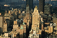 New York. elevated view. Carlysle hotel building , North east side aerial view view   New York - United states  /   le building de l hotel Carlysle manhattan north east vue aerienne  New York - Etats-unis