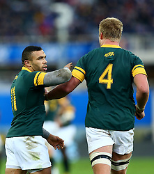 November 19, 2016 - Rome, Italy - Bryan Habana and Pieter-Steph du Toit (S)  during the international match between Italy v South Africa at Stadio Olimpico on November 19, 2016 in Rome, Italy. (Credit Image: © Matteo Ciambelli/NurPhoto via ZUMA Press)
