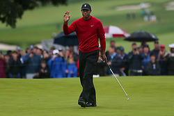 September 10, 2018 - Newtown Square, Pennsylvania, United States - Tiger Woods waves to the crowd after putting the 16th green during the final round of the 2018 BMW Championship. (Credit Image: © Debby Wong/ZUMA Wire)