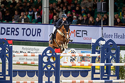 TEBBEL Justine (GER), Hello Guv'nor<br /> Hagen - Horses and Dreams 2019<br /> Preis der LVM Versicherung - CSI4* Quali. BEMER-RIDERS TOUR-Wertung<br /> 27. April 2019<br /> © www.sportfotos-lafrentz.de/Stefan Lafrentz