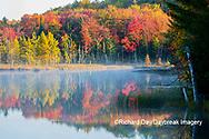 64776-02017 Council Lake in fall color Alger Co.  MI