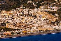 Panoramic views of La Herradura coastline (Horseshoe Bay) Costa Tropical, Granada Province, Andalusia, Spain.