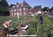 Pennsbury Manor, Delaware River, Philadelphia, Pennsylvania, Wm Penn home English garden,