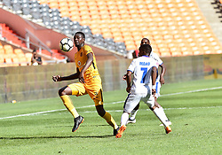 Chippa United FC player Paseka Mako battle for the ball with Kaizer Chiefs player Erick Mathoho during the ABSA premiership at FNB stadium <br />Picture: Itumeleng English/African News Agency (ANA)<br />07.04.2018