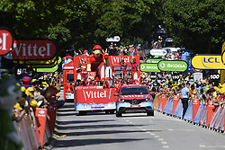 July 4, 2017 - Mondorf Les Bains / Vittel, Luxembourg / France - VITTEL, FRANCE - JULY 4 : Illustration picture of the publicity caravan  during stage 4 of the 104th edition of the 2017 Tour de France cycling race, a stage of 207.5 kms between Mondorf-Les-Bains and Vittel on July 04, 2017 in Vittel, France, 04/07/2017 (Credit Image: © Panoramic via ZUMA Press)