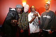 l to r: Corey Smith, Krondon(S.A.S),), Mitchy Slick(S.A.S), and Phil the Agony(S.A.S) at The Sony HipHop Live Tour featuring Talib Kweli and David Banner held at The Nokia Theater on October 25, 2008 in NYC