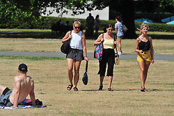 © Licensed to London News Pictures. 07/08/2018<br /> GREENWICH, UK.<br /> People enjoying the hot weather in Greenwich Park, Greenwich.<br /> Photo credit: Grant Falvey/LNP