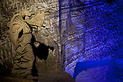 The Salt Cathedral of Zipaquira is an underground Roman Catholic Church / Cathedral, built 200m down in the tunnels of a salt mine, in a village called Zipaquira, in Cundinamarca, on the outskirts of Bogota, Colombia. Crosses and other religious ornaments have been hand carved out of salt.