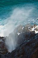 Blowhole at the Lanai Lookout, near Honolulu, Oahu, Hawaii