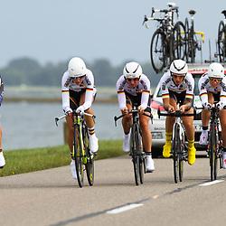 Brainwash Ladiestour Dronten Team Time Trail German National Team; Anna Schnitzmeier; Stephanie Pohl; Lisa Fischer; Mieke Kroger; Janine Bubner; Theras Kleine