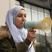 Alisha repesenter for Hand of my Hijab speak against hate and in solidarity with the Muslim community of the outrageous 'Punish a Muslim Day' letter recently sent to homes across the country is yet another example of anti-Muslim hate crime which has doubled over the last year on the 3rd March 2018 at Islington Town Hall, London, UK.