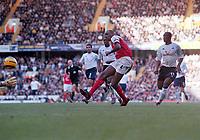 Fotball<br /> Premier Legaue England 2004<br /> 13.11.2004<br /> Foto: Colorsport/Digitalsport<br /> NORWAY ONLY<br /> <br /> Patrick Vieira (Arsenal) scores Arsenal's 3rd goal.<br /> <br /> Tottenham Hotspur v Arsenal
