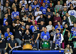16.10.2011, Dom Sportava, Zagreb, CROCRO, EBEL, KHL MEDVESCAK ZAGREB vs EHC LIWEST BLACK WINGS LINZ, im Bild Fans Zagreb  .// during EBEL Eishockey game between Medvescak KHL Zagreb and EHC LIWEST BLACK WINGS LINZ at Dom Sportava in Zagreb, Croatia on 2011/16/10. EXPA Pictures © 2011, PhotoCredit: EXPA/ nph/ PIXSELL ****** out of GER / CRO / BEL ******
