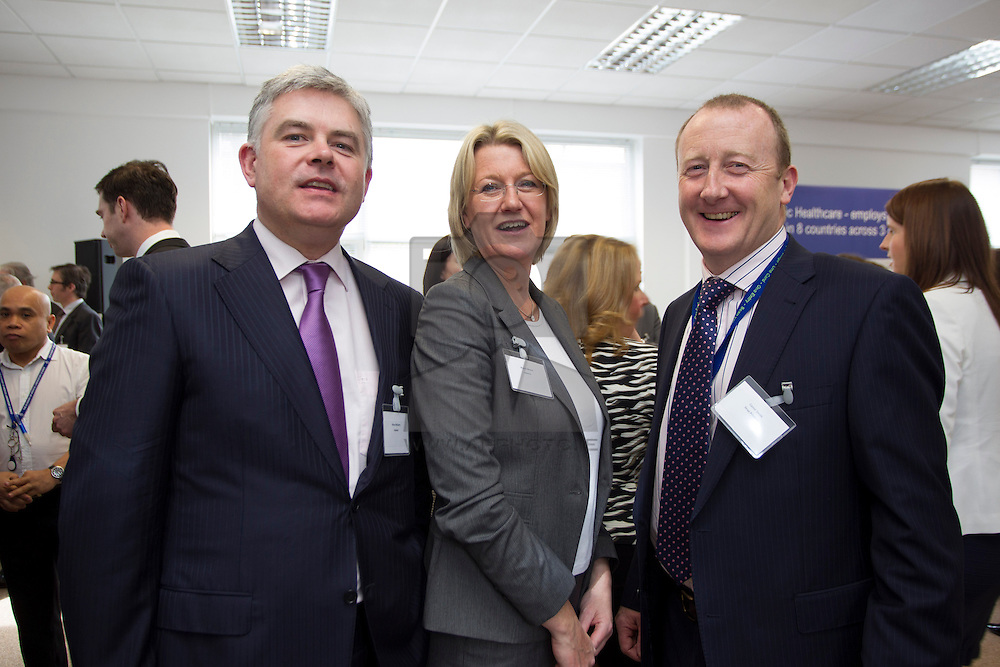 Brian McGarry and Niamh Moore both from Invesco are pictured with Conor Smith, Snap Printing
