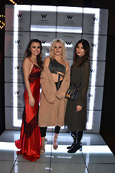 Samantha Barks, Pixie Lott and Gemma Chan at the official launch of The Perception at W London, 10 Wardour Street, London England. 7 November 2017.<br /> Photo by Dominic O'Neill/SilverHub 0203 174 1069 sales@silverhubmedia.com