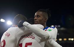 Jeffrey Schlupp of Crystal Palace (C) celebrates scoring his sides second goal - Mandatory by-line: Jack Phillips/JMP - 30/11/2019 - FOOTBALL - Turf Moor - Burnley, England - Burnley v Crystal Palace - English Premier League