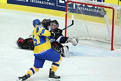 20.04.2016, Dom Sportova, Zagreb, CRO, IIHF WM, Ukraine vs Estland, Division I, Gruppe B, im Bild Daniil Seppenen. // during the 2016 IIHF Ice Hockey World Championship, Division I, Group B, match between Ukraine and Estonia at the Dom Sportova in Zagreb, Croatia on 2016/04/20. EXPA Pictures © 2016, PhotoCredit: EXPA/ Pixsell/ Goran Stanzl<br /> <br /> *****ATTENTION - for AUT, SLO, SUI, SWE, ITA, FRA only*****