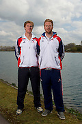 Mcc0038874 . Daily Telegraph..DT Sport..Men's Pair George Nash and Will Satch..The announcement of the GB Rowing Crews for the first World Cup.. .Reading 4 April 2012