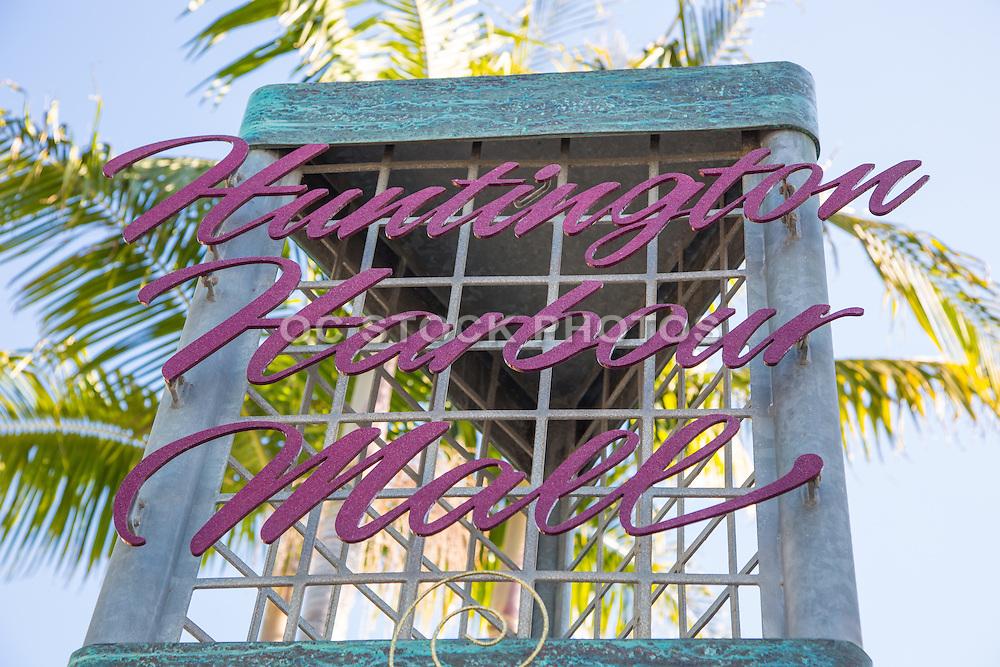 Huntington Harbour mall in Huntington Beach California Sign