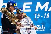 June 10-16, 2019: 24 hours of Le Mans. 8 Fernando Alonso, Toyota Gazoo Racing, TOYOTA TS050 - HYBRID, Shigeki Tomoyama, President, Toyota Gazoo Racing Company