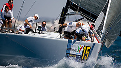 TP 52 Artemis preparing for hoisting the gennaker at the top mark in Portimao Portugal. The lost the event to Mean Machine, but won the overall medcup in 2007.