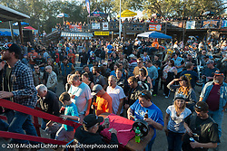 California Hellriders Wall of Death at the Iron Horse Saloon during the Daytona Bike Week 75th Anniversary event. FL, USA. Sunday March 6, 2016.  Photography ©2016 Michael Lichter.