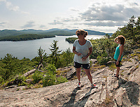 Hike up Rattlesnake Island followed by dinner on Bear Island, Lake Winnipesaukee.  ©2016 Karen Bobotas Photographer