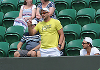 Tennis - 2021 All England Championship - Week One - Day Four (Thursday) - Wimbledon<br /> Andrea Petkovic v Barbora Krajcikova<br /> <br /> Andrea Petkovic coach complains to the Umpire<br /> <br /> CreditCOLORSPORT/Andrew Cowie