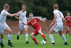 NEWPORT, WALES - Wednesday, August 3, 2016: South Wales Academy Boys' George Newman during the Welsh Football Trust Cymru Cup 2016 at Newport Stadium. (Pic by Ian Cook/Propaganda)
