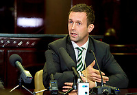 21/11/14<br /> CELTIC PARK - GLASGOW<br /> Celtic manager Ronny Deila speaks to the media after the club's AGM