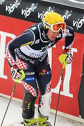 06.01.2013, Crveni Spust, Zagreb, CRO, FIS Ski Alpin Weltcup, Slalom, Herren, 2. Lauf, im Bild Ivica Kostelic (CRO) // Ivica Kostelic of Croatia reacts after 2nd Run of mens Slalom of the FIS ski alpine world cup at Crveni Spust course in Zagreb, Croatia on 2013/01/06. EXPA Pictures © 2013, PhotoCredit: EXPA/ Pixsell/ Zeljko Lukunic..***** ATTENTION - for AUT, SLO, SUI, ITA, FRA only *****
