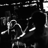 USE ARROWS ← → on your keyboard to navigate this slide-show<br /> <br /> Yangon, Myanmar May 2006<br /> Boxing fighters of the KLN boxing school. Most of them are part of the Karen minority ethnic group.<br /> On this picture: Boxer Saw Zaw Lwin, 34 years old.<br /> Photo: Ezequiel Scagnetti