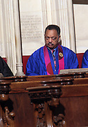 6 January 2010- New York NY- Rev. Jesse Jackson at the Percy E. Sutton's Funeral held at The Riverside Church on January 6, 2010 in New York City. Photo Credit: Terrence Jennings/Sipa