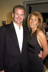 The HON.AURELIA CECIL and her husband MR RUPERT STEPHENSON, at a party in London on 25th September 2000.OHH 11<br /> <br /> Photo by Dominic O'Neill/Desmond O'Neill Features Ltd.  +44(0)1306 731608  www.donfeatures.com