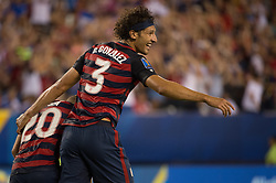 July 19, 2017 - Philadelphia, Pennsylvania, U.S - United States of America defender  OMAR GONZALEZ (3) and United States of America midfielder PAUL ARRIOLA (20) celebrate the first goal of the match during CONCACAF Gold Cup 2017 quarterfinal action at Lincoln Financial Field in Philadelphia, PA.  USA  defeats El Salvador 2 to 0. (Credit Image: © Mark Smith via ZUMA Wire)