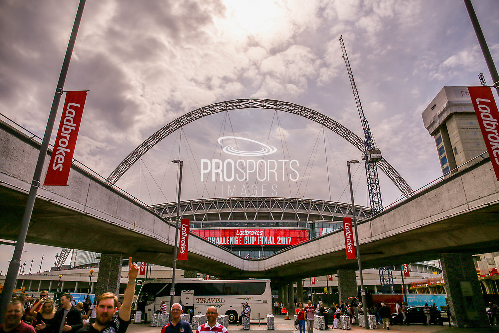Wembley stadium shot during the Ladbrokes Challenge Cup Final 2017 match between Hull RFC and Wigan Warriors at Wembley Stadium, London, England on 26 August 2017. Photo by Simon Davies.