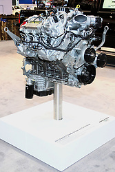 12 February 2015:  2015 Ford 6.7L PoerStroke V8 Turbo Diesel cutaway.<br /> <br /> First staged in 1901, the Chicago Auto Show is the largest auto show in North America and has been held more times than any other auto exposition on the continent. The 2015 show marks the 107th edition of the Chicago Auto Show. It has been  presented by the Chicago Automobile Trade Association (CATA) since 1935.  It is held at McCormick Place, Chicago Illinois