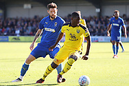 \w40 chasing down ball during the EFL Sky Bet League 1 match between AFC Wimbledon and Oxford United at the Cherry Red Records Stadium, Kingston, England on 29 September 2018.