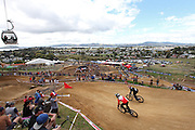 Overview of the Crankworx location at the Skyline at Rotorua, during the Mons Royale Dual Speed and Style copmpetition 26.03.2015