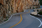 Image of a windy, curvy road in Kings Canyon National Park, California by Randy Wells