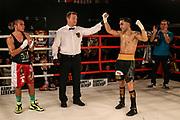 Boxen: Hafen Rumble, Intern. Deutsche Meisterschaft, Leichtgewicht, Hamburg, 22.09.2018<br /> Robert Harutyunayan (GER) - Giovanny Martinez (MEX)<br /> © Torsten Helmke