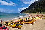 Milolii Beach, Kayaking, Napali Coast, Kauai, Hawaii