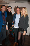 ROBERT MONTGOMERY; LUCY NEWMAN; CYPRIEN GAILLARD; LILY DONALDSON, Opening of Morris Lewis: Cyprien Gaillard. From Wings to Fins, Sprüth Magers London Grafton St. London. Afterwards dinner at Simpson's-in-the-Strand hosted by Monika Spruth and Philomene Magers.