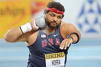 ATHLETICS - WORLD CHAMPIONSHIPS INDOOR 2012 - ISTANBUL (TUR) 09 to 11/03/2012 - PHOTO : STEPHANE KEMPINAIRE / KMSP / DPPI - <br /> SHOT PUT - MEN - FINALE - REESE HOFFA (USA)