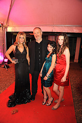 Singer HEIDI RANGE from The Sugababes, VINCE POWER and his daughters at the End of Summer Ball in support of The Prince's Trust in Berkeley Square, London on 25th September 2008.