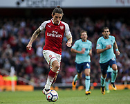 Hector Bellerin of Arsenal in action.  Premier league match, Arsenal v AFC Bournemouth at the Emirates Stadium in London on Saturday 9th September 2017. pic by Kieran Clarke, Andrew Orchard sports photography.