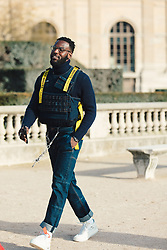 Street Style, Kofi Siriboe arriving at Off-White Menswear Fall Winter 2019 ready-to-wear show, held at Paris Fashion Week, on January 16th, 2019. Photo by Mila Belrose/ABACAPRESS.COM