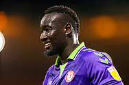 Portrait of Bristol City forward Famara Diedhiou (9) during the EFL Sky Bet Championship match between Middlesbrough and Bristol City at the Riverside Stadium, Middlesbrough, England on 23 February 2021.