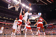 06 APR 2015:  Forward Justise Winslow (12) of Duke University shoots over Forward Frank Kaminsky (44) of the University of Wisconsin during the championship game at the 2015 NCAA Men's DI Basketball Final Four in Indianapolis, IN. Duke defeated Wisconsin 68-63 to win the national title. Brett Wilhelm/NCAA Photos